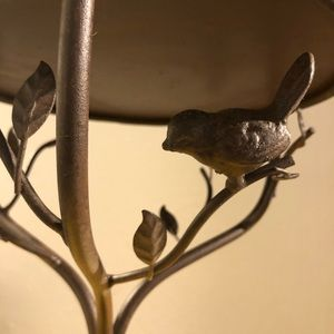 Other - SOLD Cast iron bird in trees cake or plant stand